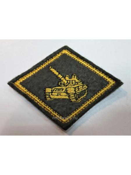 Нагрудный Знак Танковые Войска на Липучке Желтый