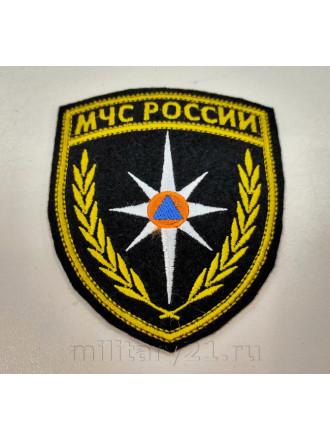 Шеврон МЧС России Щит Вышитый без Липучки Неметаллизированный