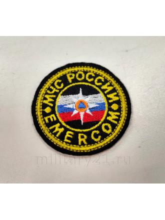 Нашивка на Грудь МЧС EMERCOM Малая Вышитая