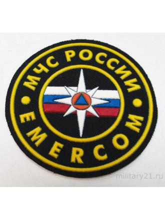 Шеврон МЧС EMERCOM Пластизоль 8,5 см