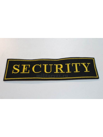 Нашивка Security на Спину Вышитая