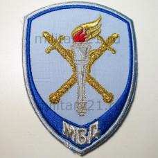 Шеврон вышит. Юстиция МВД Следственные подразделения (бледно-голубой) на липучке