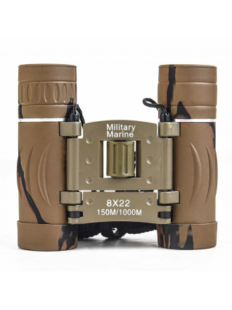 Бинокль Складной Military Marine 8x22 Хаки Камо