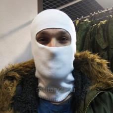 Балаклава маска вязаная белая