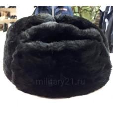 Шапка-ушанка сувенирная черная без кокарды