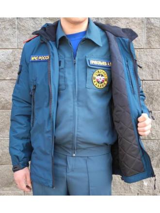 Куртка МЧС Демисезонная Удлиненная Морская Волна Микро Рип-стоп
