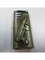 Зажигалка Металл Автомат Золотистая MSPK-PDW