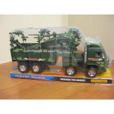 Машина грузовик игрушка детская с вертолетом