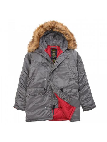 Куртка N-3B Slim Fit Alpha gun metal-red
