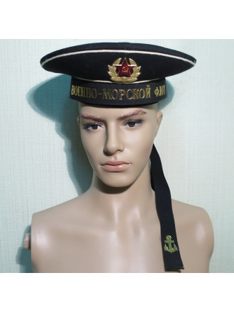 Бескозырка чёрная СССР