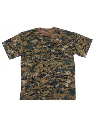 Футболка US T-Shirt Digital Woodland MFH