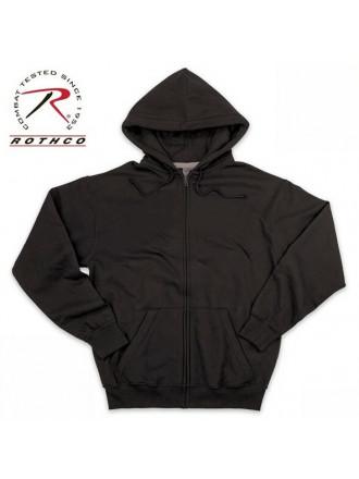 Толстовка Хлопок Thermal Zipper Black Rothco