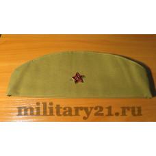 Пилотка военная солдатская с кокардой образца ВОВ