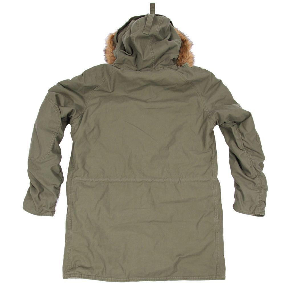 7723f674c06 Куртка Slim Fit N-3B Cotton Parka Olive Green Alpha